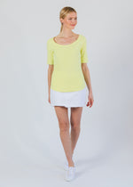 College Tee (Soft Yellow)