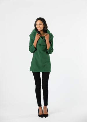 Calyer Cowl Neck Sweater (Green) TH