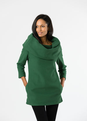 Calyer Cowl Neck Sweater (Green)