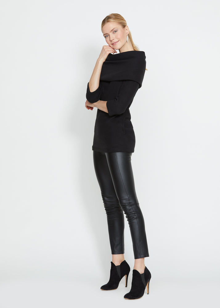 Calyer Cowl Neck Sweater (Black)