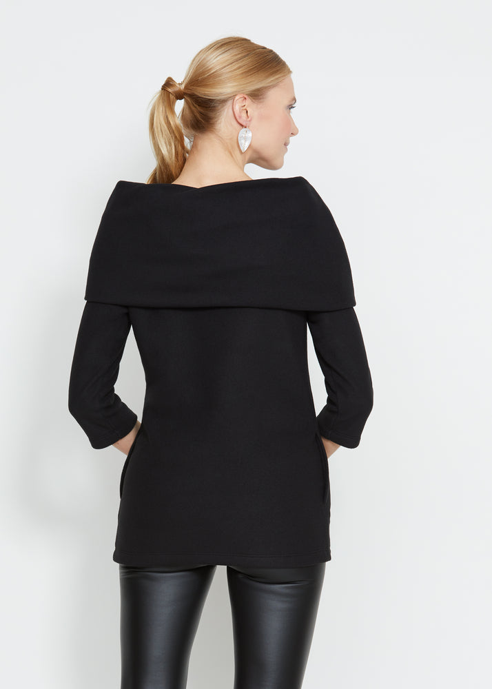 Load image into Gallery viewer, Calyer Cowl Neck Sweater (Black) TH