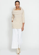 Calyer Cowl Neck Sweater (Natural Blush)