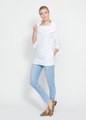 Load image into Gallery viewer, Calyer Cowl Neck Sweater (White)