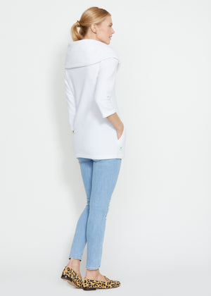 Calyer Cowl Neck Sweater (White)
