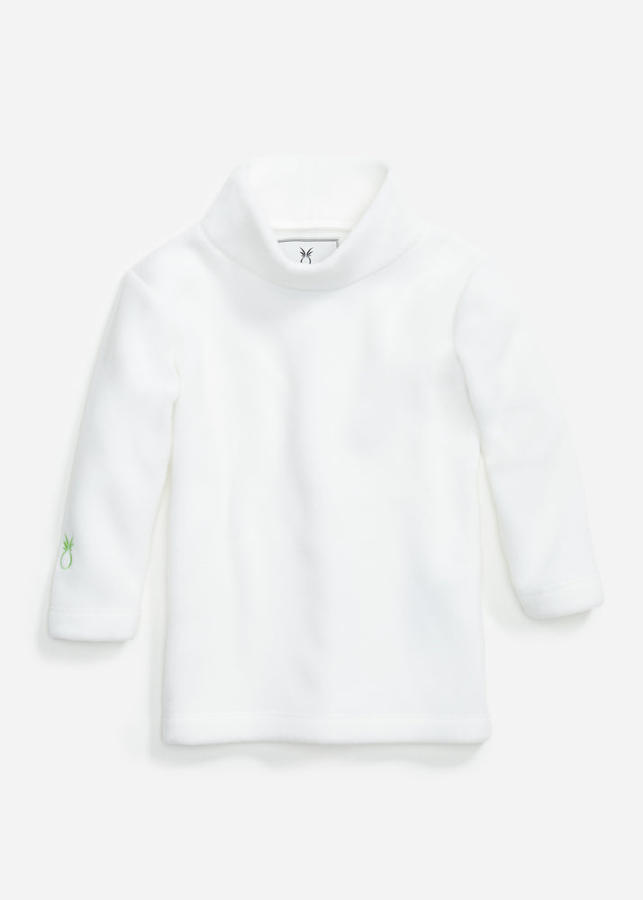 Little Girls Turtleneck (White)