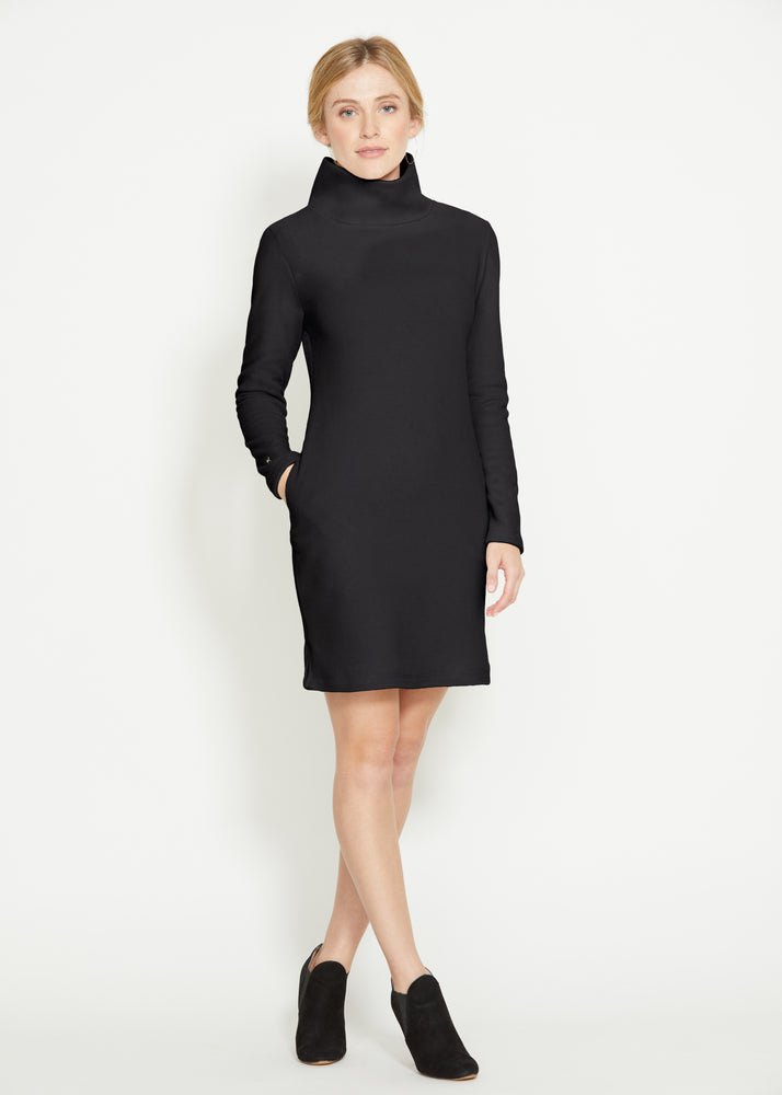 Tilden Turtleneck Dress (Black)