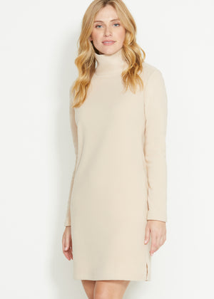 Tilden Turtleneck Dress (Natural Blush)
