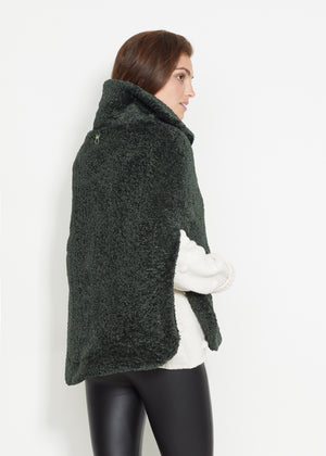 Ashford Poncho in Brushed Fleece (Hunter Green)