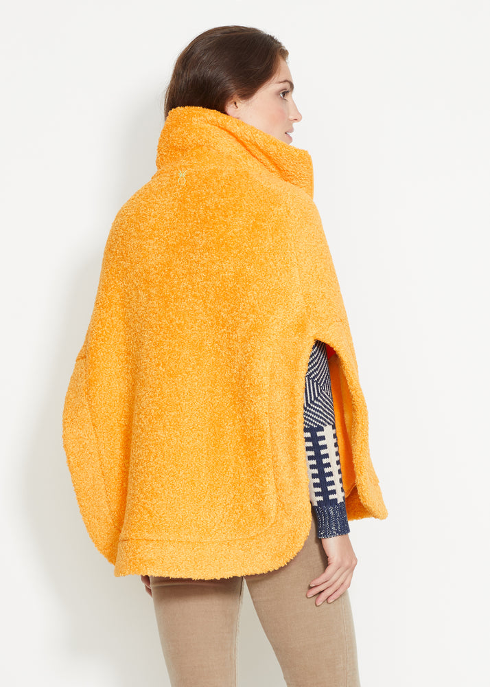 Ashford Poncho in Brushed Fleece (Marigold)