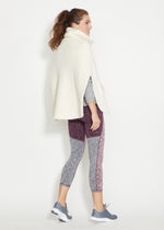 Ashford Poncho in Brushed Fleece (Off-White)