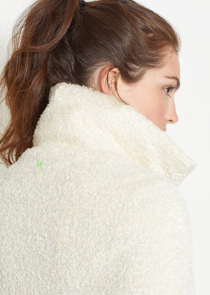Ashford Poncho (Off-White Brushed Fleece)
