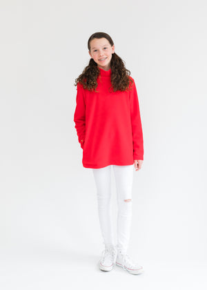 Greenbriar Girls Turtleneck (Red) TH