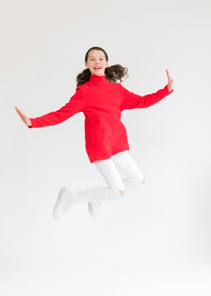 Girls Turtleneck (Red)