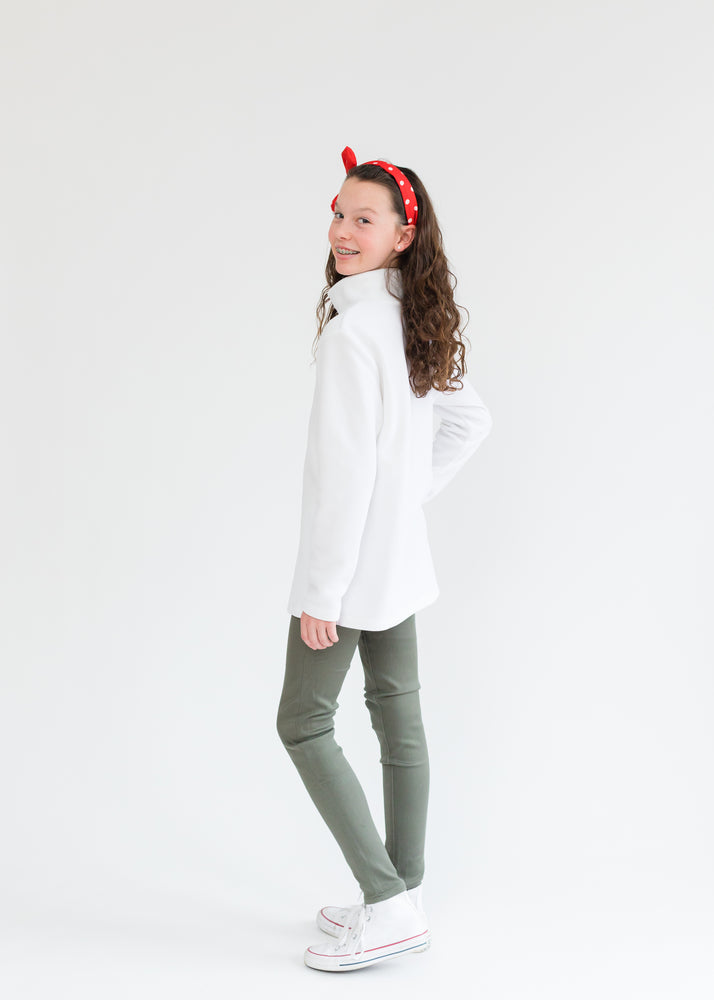 Girls Turtleneck (White)
