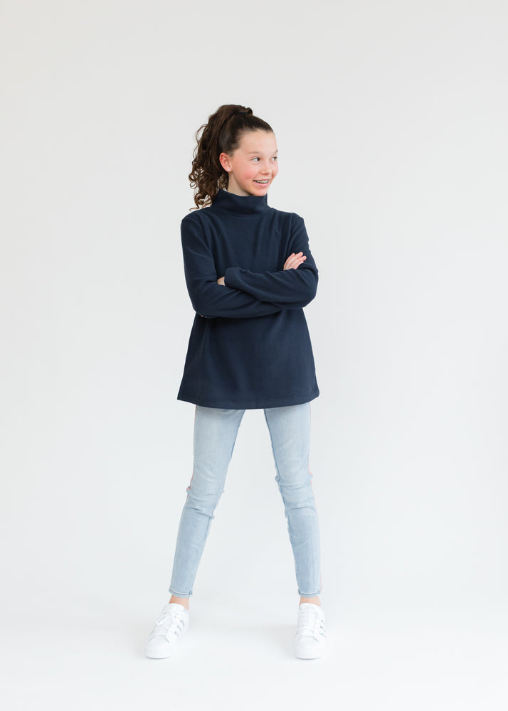 Greenbriar Girls Turtleneck (Navy)