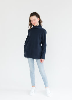 Girls Turtleneck (Navy)