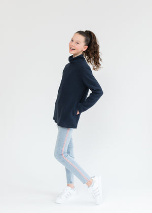 Load image into Gallery viewer, Greenbriar Girls Turtleneck (Navy)