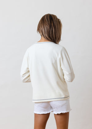 Load image into Gallery viewer, Somerset Sweatshirt in Ribbed Fleece (Off-White)