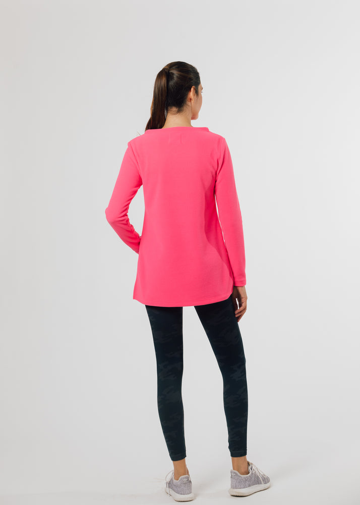 Highland High-Low Top (Neon Pink)