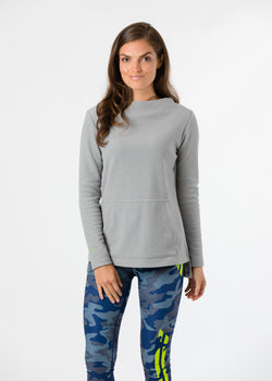 Highland High-Low in Terry Fleece (Heather Grey)