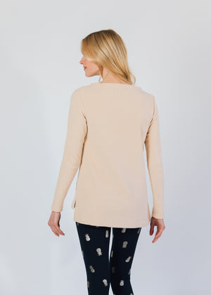 Highland High-Low in Terry Fleece (Natural Blush)