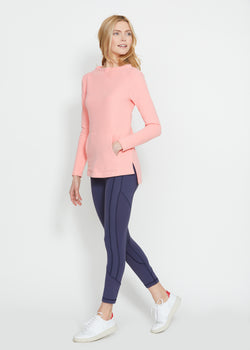 Highland High-Low in Terry Fleece (Island Coral)