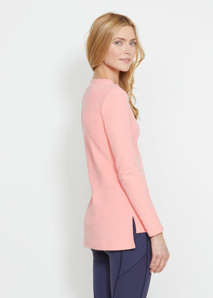 Highland High-Low in Terry Fleece (Island Coral) TH