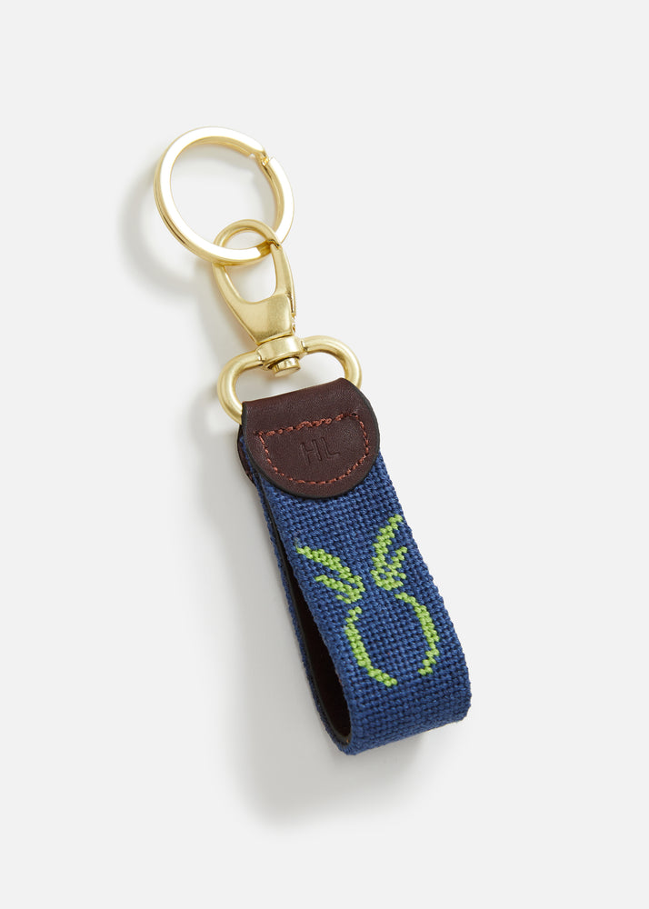 Load image into Gallery viewer, Harding Lane Pineapple Key Fob (Navy)