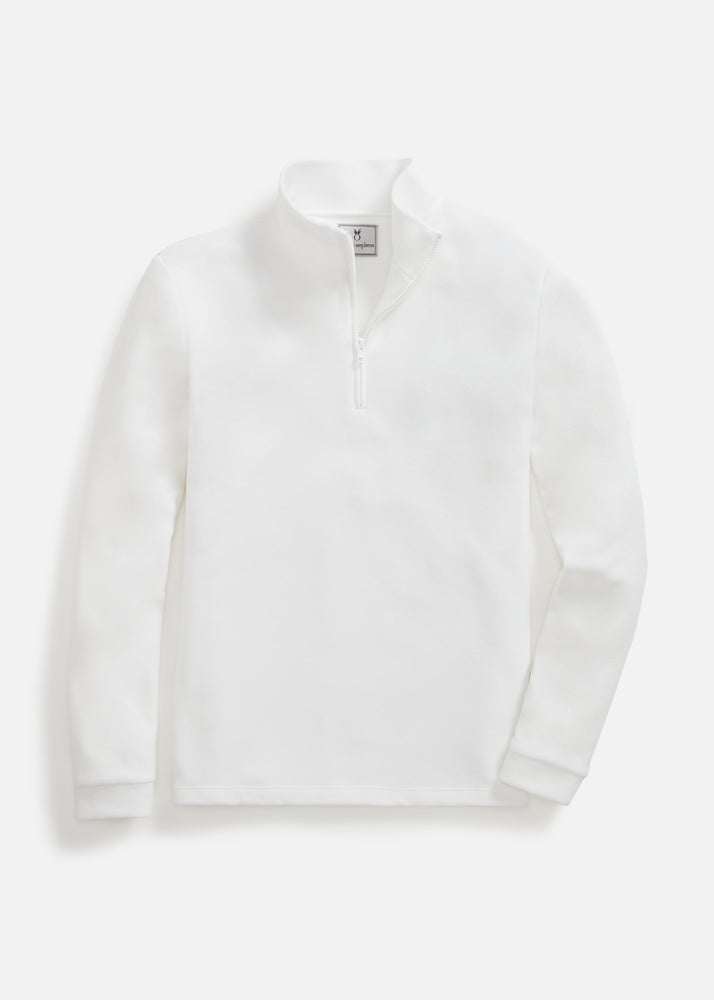 Mens Duffield Pullover in Terry Fleece (White)