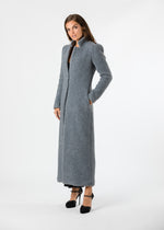 Millbank Maxi Coat in Shearling (Charcoal Grey)