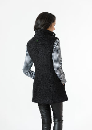 Pacific Vest in Brushed Fleece (Black)
