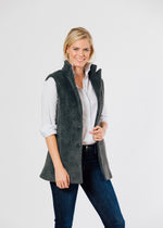 Pacific Vest in Tweed (Chevron)