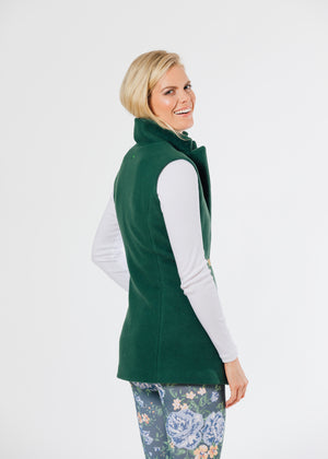 Pacific Vest in Double Layer Vello Fleece (Hunter Green) TH