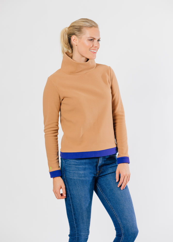 Park Slope Turtleneck Color Block (Camel)