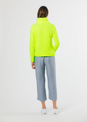 Park Slope Turtleneck (Neon Yellow) TH