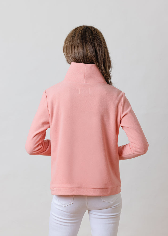 Park Slope Turtleneck in Terry Fleece (Island Coral)