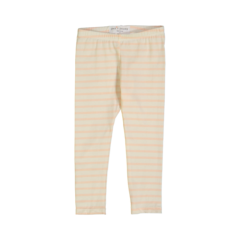 Load image into Gallery viewer, Petit Peony Leggings (Pink Stripe)