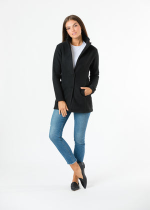 Remsen Blazer in Double Layer Vello Fleece (Black) TH