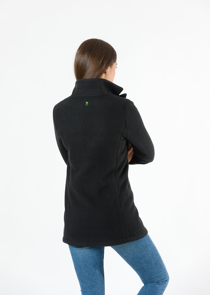 Remsen Blazer in Double Layer Vello Fleece (Black)