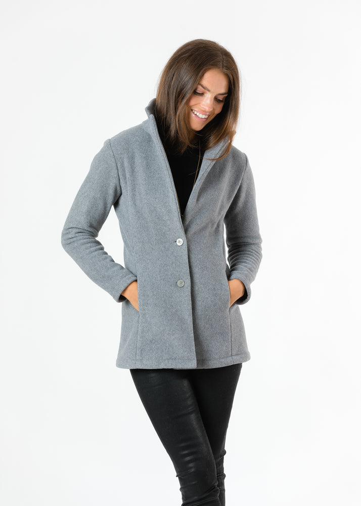 Remsen Blazer in Double Layer Vello Fleece (Charcoal Grey) TH