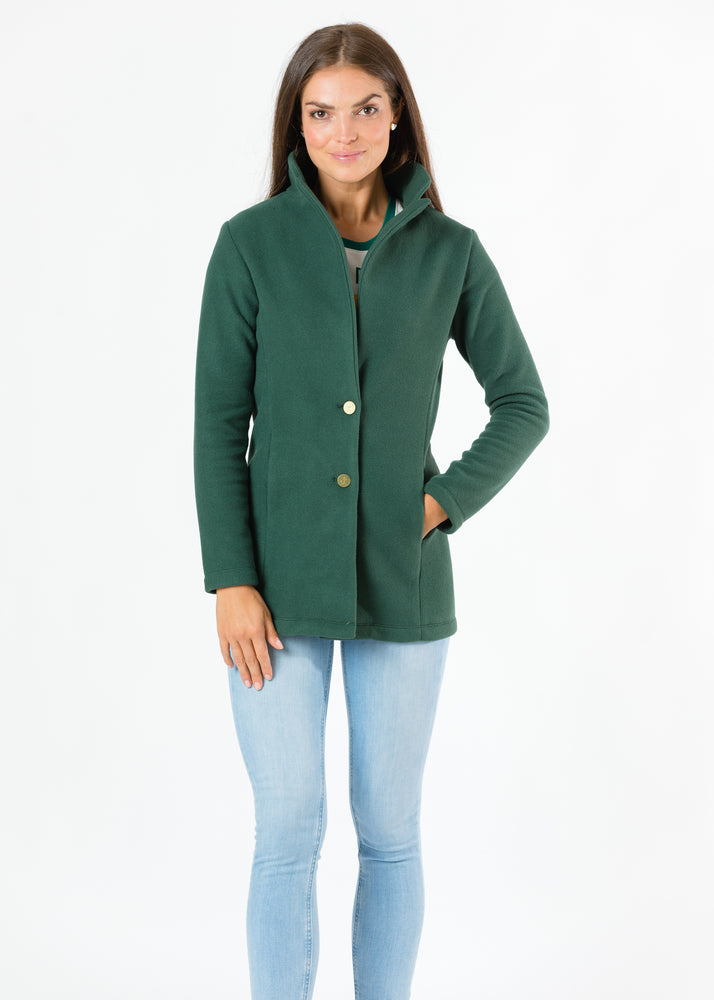 Remsen Blazer in Double Layer Vello Fleece (Hunter Green)