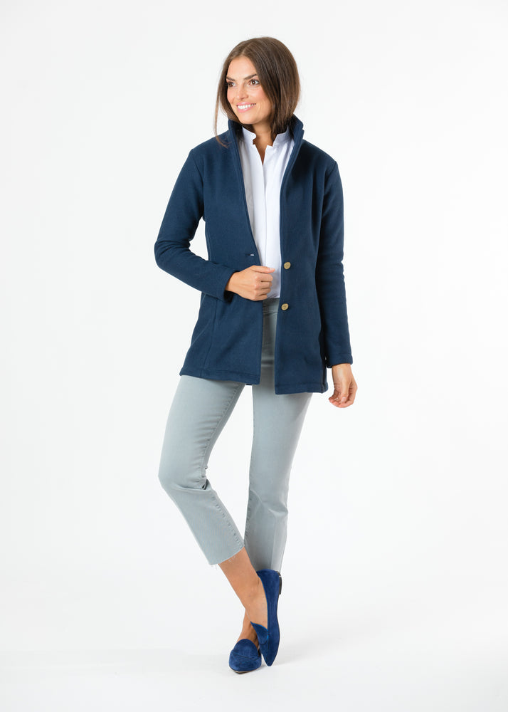 Remsen Blazer in Double Layer Vello Fleece (Navy)
