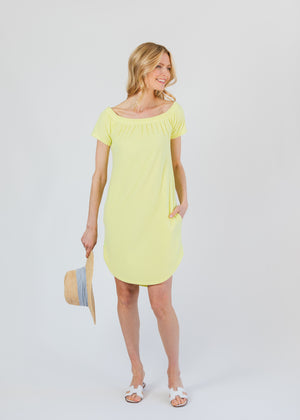 Sidney Summer Dress (Soft Yellow)