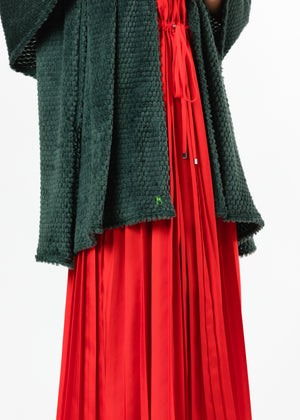Load image into Gallery viewer, TH - Spring Street Scarf in Bubble Fleece (Hunter Green)