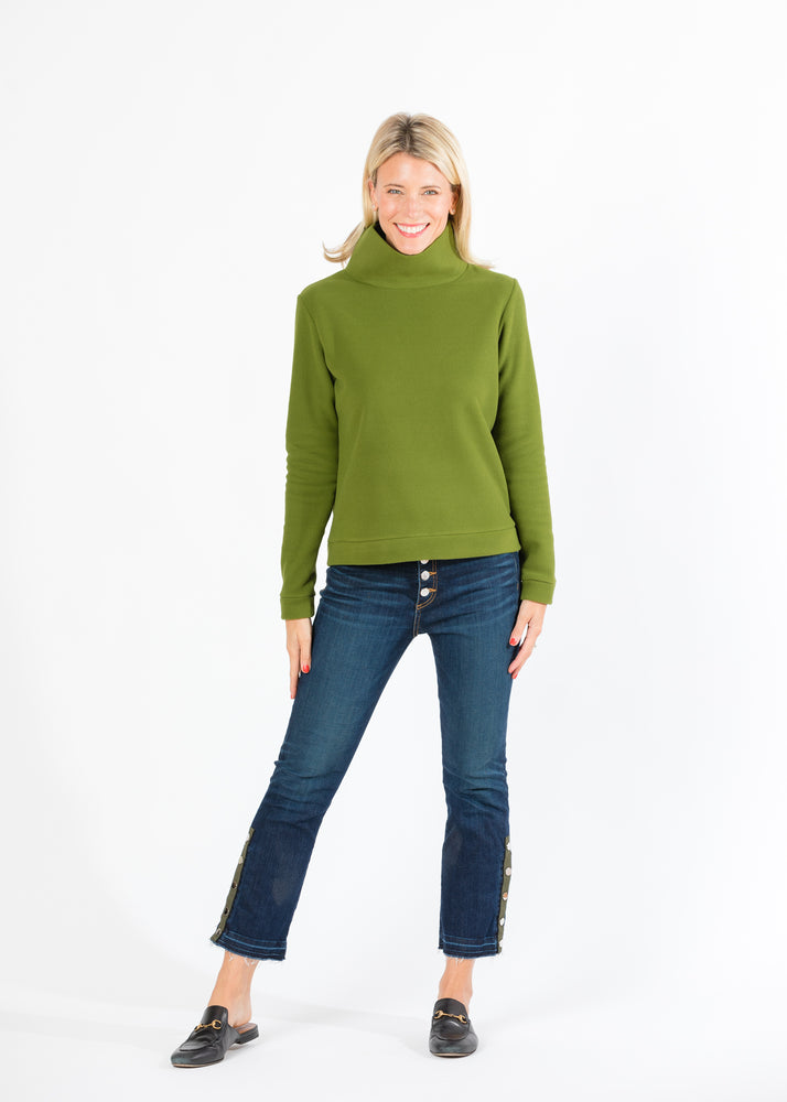 Park Slope Turtleneck (Moss Green)