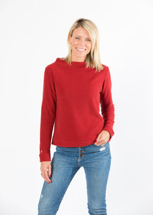 Brighton Boatneck Top (Chili Pepper Red)