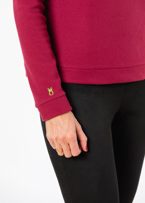 Brighton Boatneck Top (Burgundy)