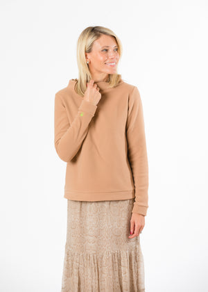 Load image into Gallery viewer, Brighton Boatneck Top (Camel)