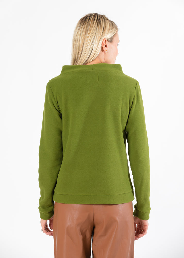 Brighton Boatneck Top (Moss Green)