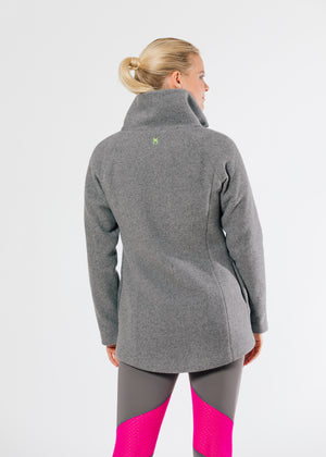 Load image into Gallery viewer, Union Street Jacket in Double Layer Vello Fleece (Charcoal Grey) TH